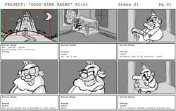 """Karno"" Pilot Storyboards Pg1"