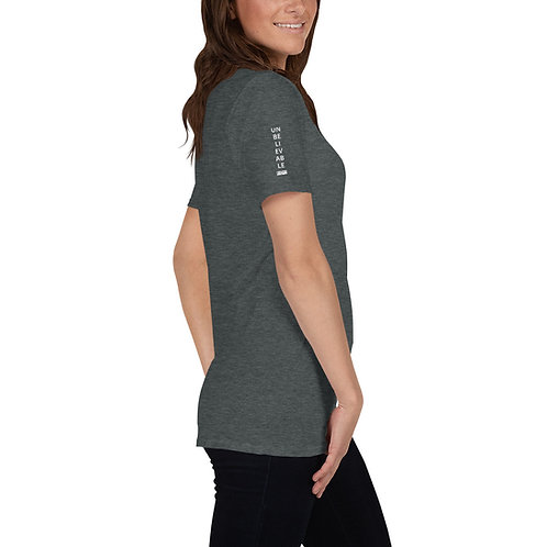 UNBELIEVABLE Short-Sleeve Unisex T-Shirt (Sleeve Print)