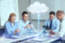 business, people, cloud computing and te