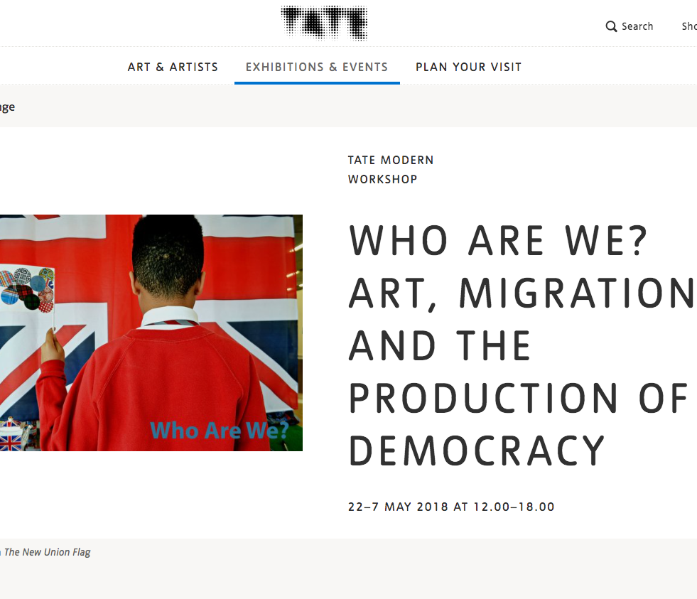 The New Union Flag installation at the Tate