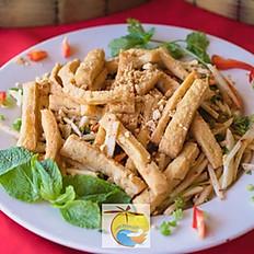 Long Beach Apple Salad with Tofu (vegan)