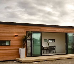 Custom Container Home With Wood Siding