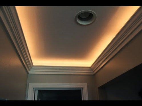 Indirect Lighted Crown Molding w Remote