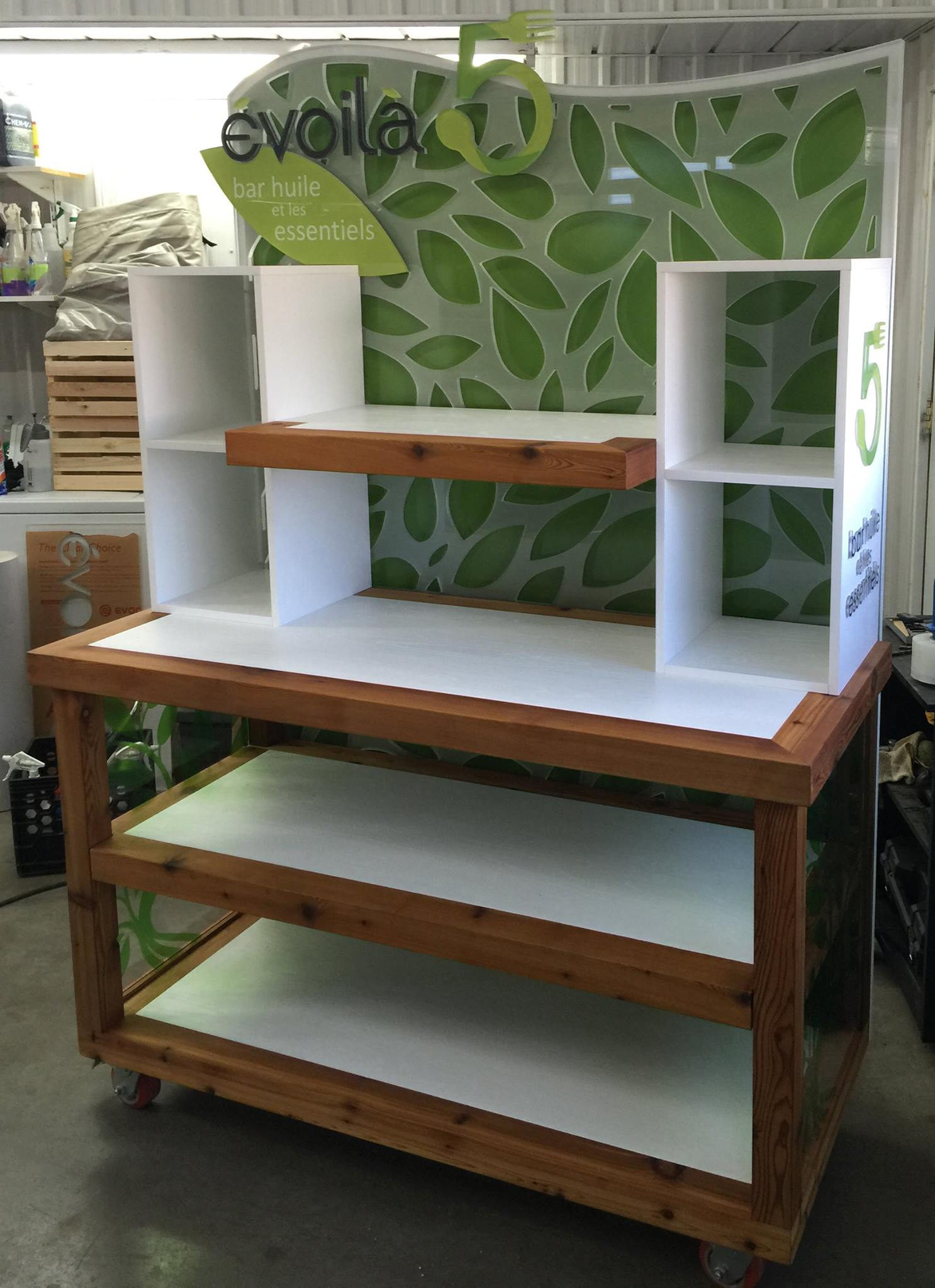 Habillage de meuble en acrylique