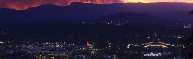 Fires over Canberra