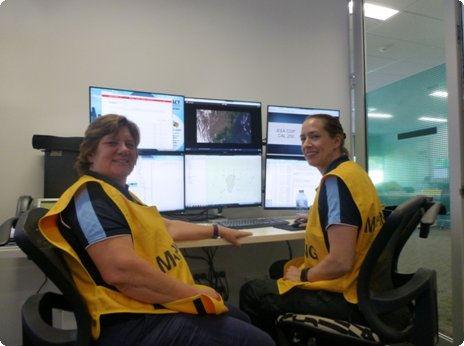 Heike and Kate at ESA hadquarters