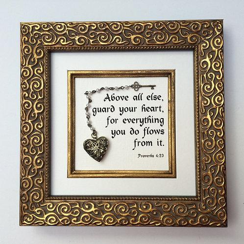 Proverbs 4:23 Gold & Copper
