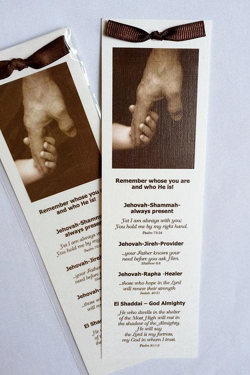 Canvas Bookmark (Names of God)