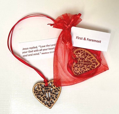 First & Foremost Heart Blessing/Bookmark Matthew 22:37