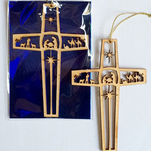 The Nativity Cross Ornament