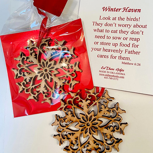 Winter Haven Ornament - Matthew 6:26 BSF