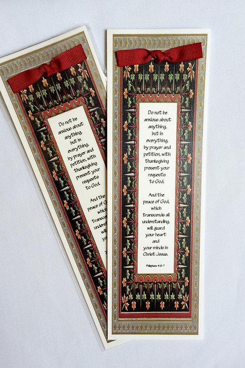 Canvas Bookmark (Phillipians 4:6-7)