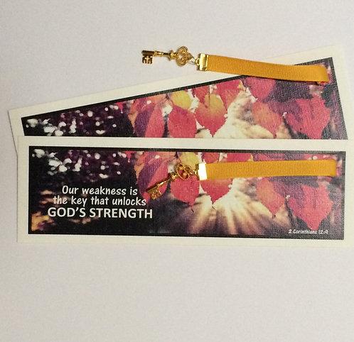 God's Strength Bookmark