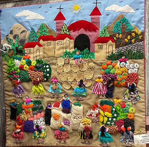 """Threads of Hope Mission to Peru 18"""" Pillow Cases"""