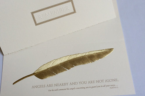 Remember Card (Gold Feather)