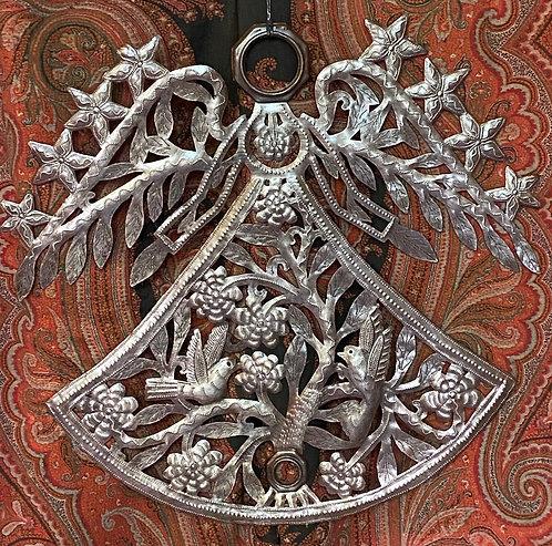 Beyond Borders Haitian Metal Art Embrace Angel & Willow
