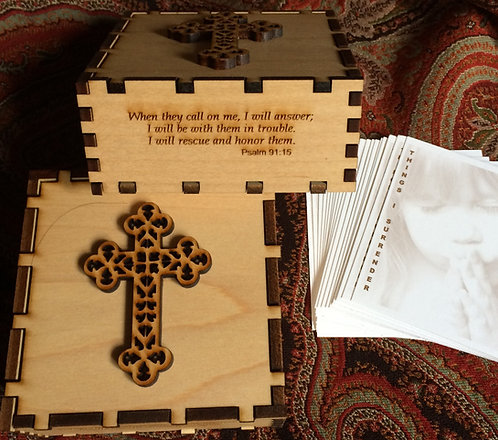 Cross God Box with Psalm 91:15
