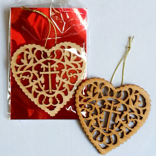 First & Foremost Heart Ornament Matthew 22:37