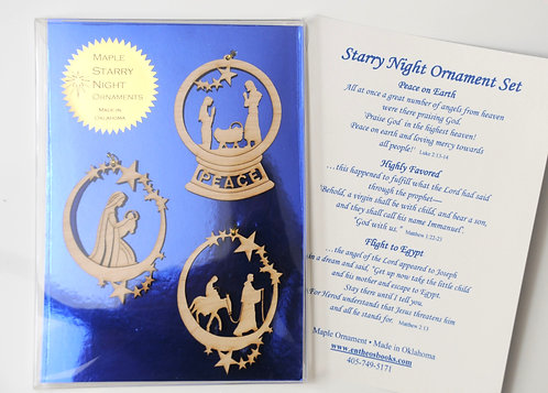 Maple Starry Night Ornament Set