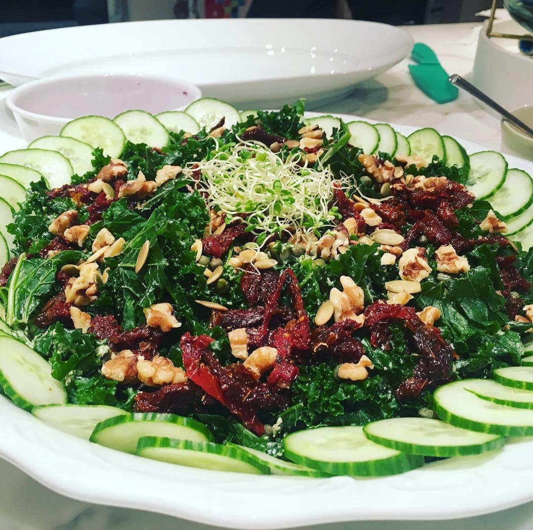 Kale salad w/ tahini