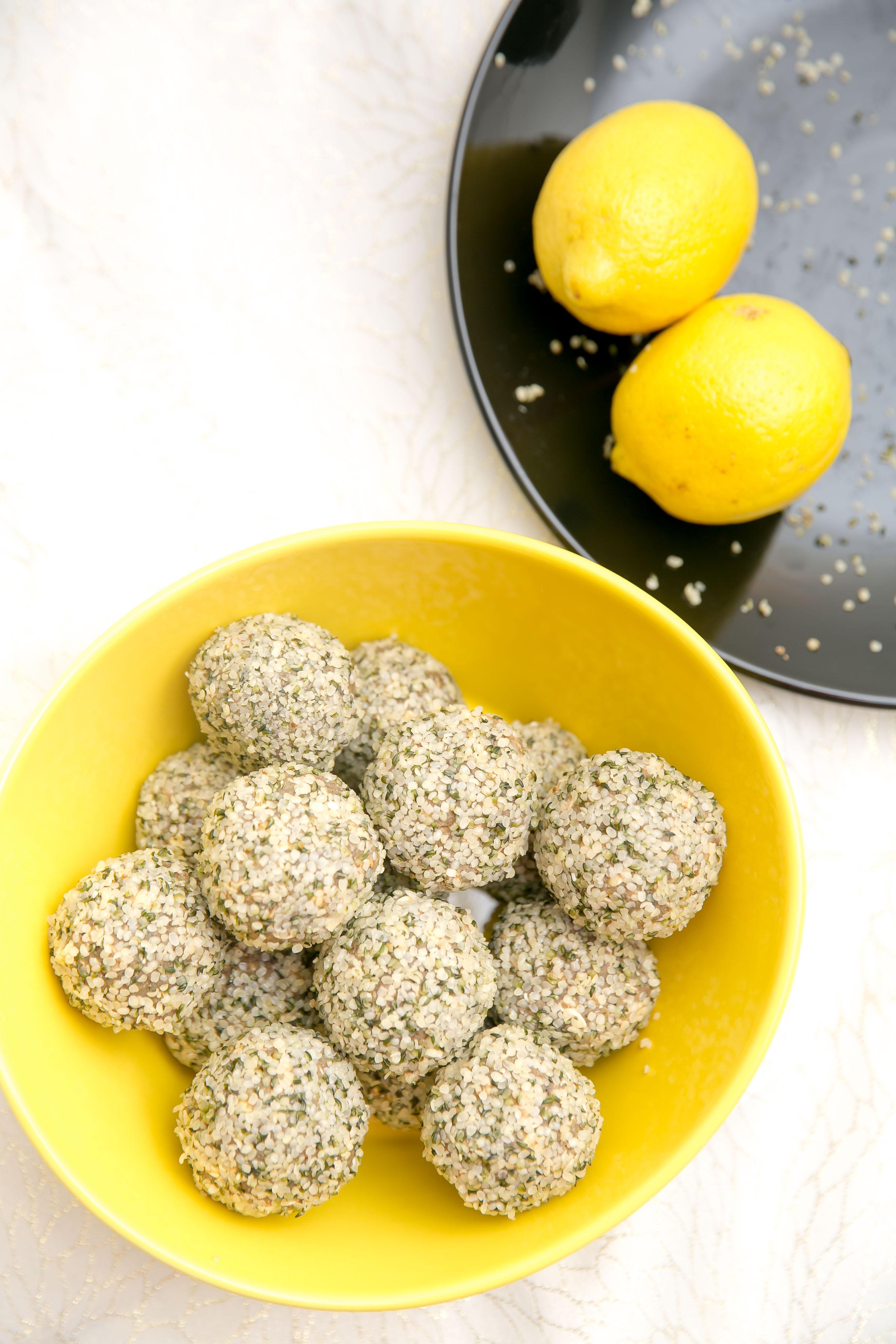Lemon Poppy Dessert Balls