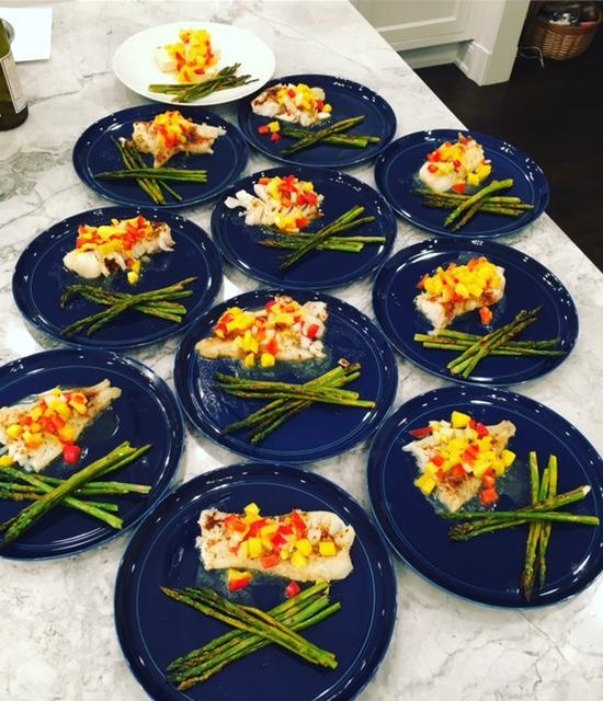 mango cod with asparagus