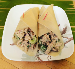 Dill Chicken Salad on coconut wrap