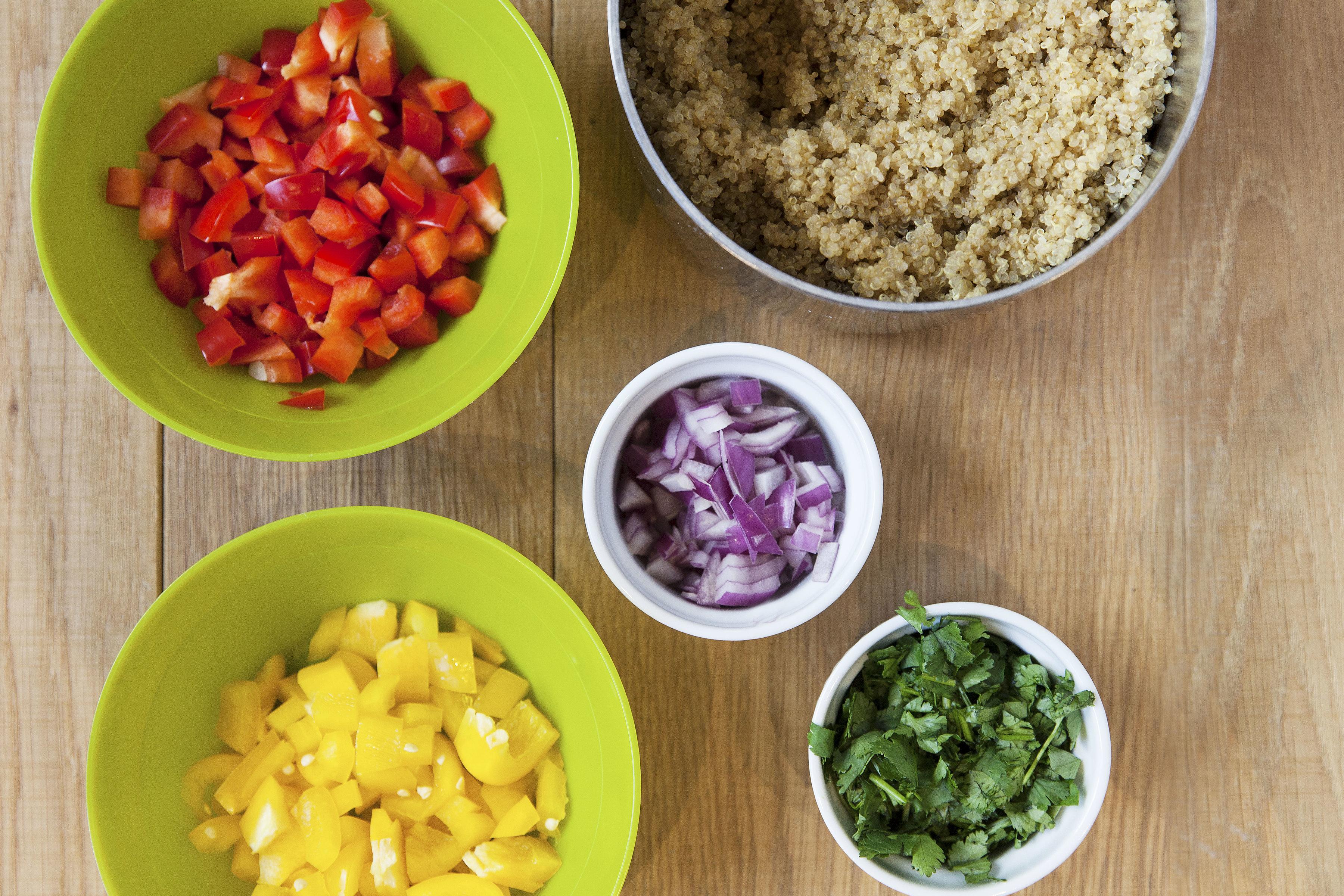 Quinoa w/ diced vegies & cilantro
