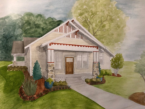 Custom watercolor of your home