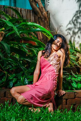 Foilage Slip Dress | Wearable Art |