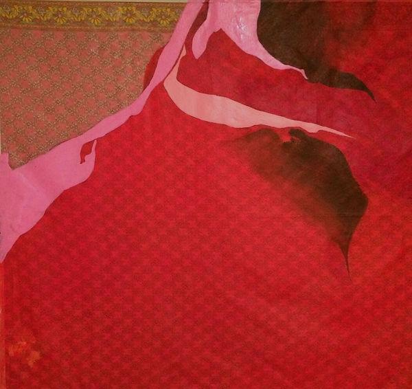 Pink on Indian Fabric-36%22x36%22.jpg