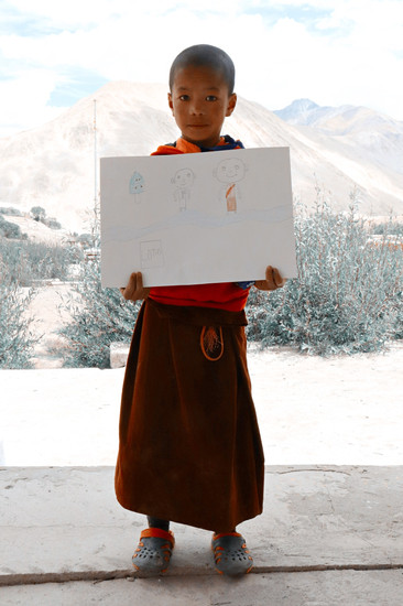 Shachukul students presenting self portraits
