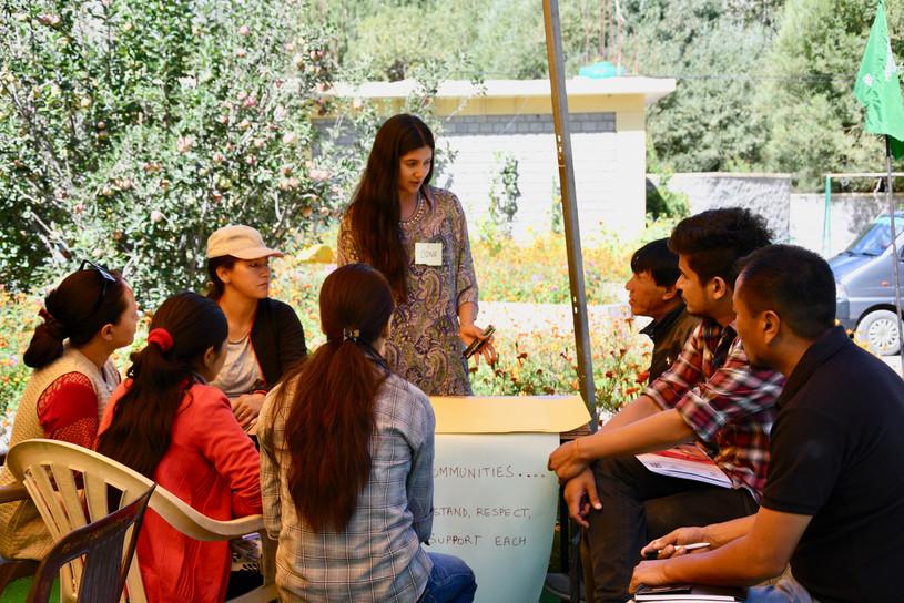 Khaltsi teachers designing their furture schools