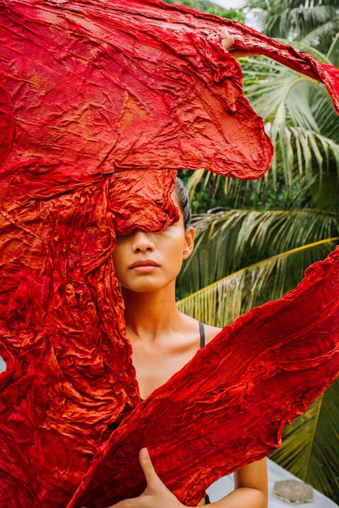 Reds | Textile Art Sculpture