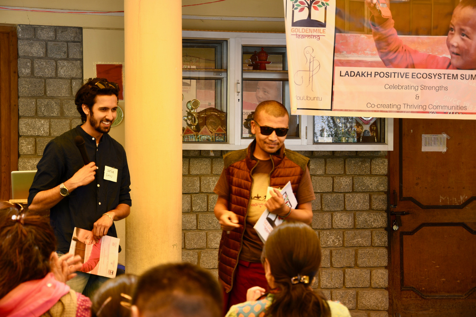 YouUbuntu Founder & Director, Shiv D'mello and K.G Sir at Summit