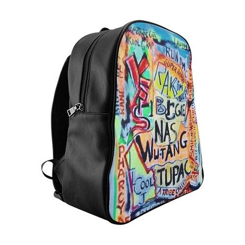 Hip Hop Leather  Backpack