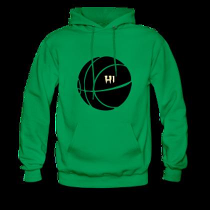 H1  Hoodie Green Back