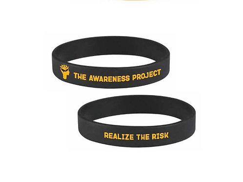 """Black 1/2"""" Silicone Wristband"""