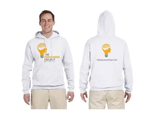 TAP White 2 color logo Hoodie
