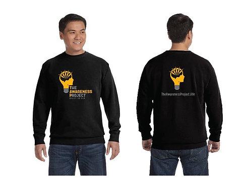 TAP Black 2 color logo Crew Neck