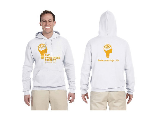 TAP White 1 color logo Hoodie