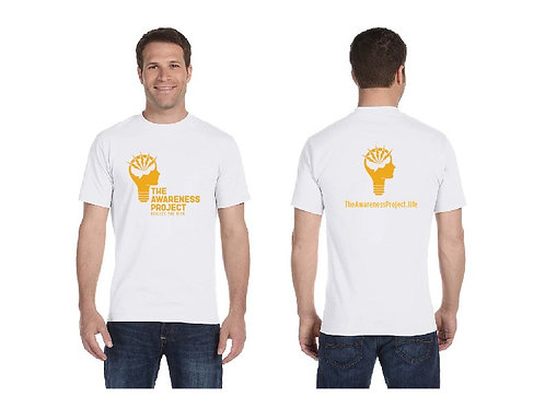 TAP White 1 color logo T-shirt
