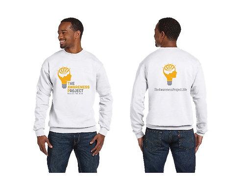 TAP White 2 color logo Crew Neck