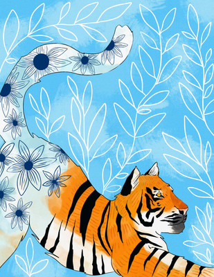 Tiger in Bloom