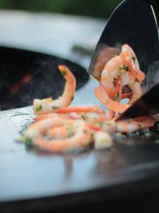 Grill-Shrimps von der Bowl