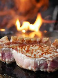 Steak am Feuer