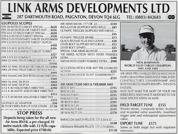 AGW - OCTOBER 1993 - LINK ARMS AD FOR RN