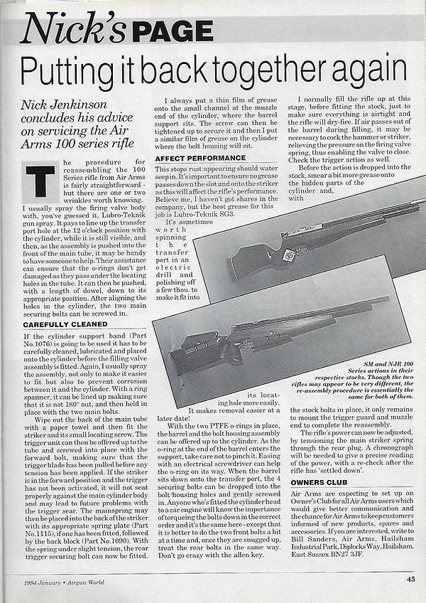 AGW - JANUARY 1994 - 100 SERIES STRIPDOW