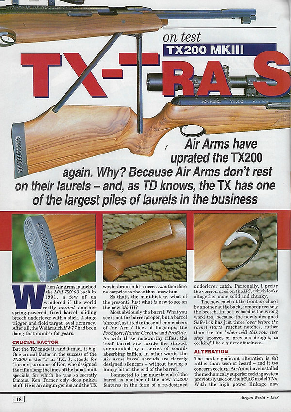 AGW - DECEMBER 1998 - TX200 MK3 REVIEW -