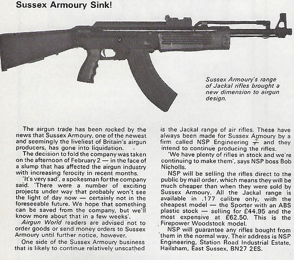 AGW - MARCH 1982 - SUSSEX ARMOURY LIQUID